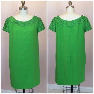 Vintage 50's 60's Malcolm Starr Beaded Shift Dress